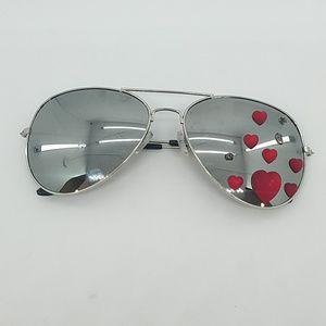HEART OF GLASS MIRROR AVIATOR GLASSES SAMPLE